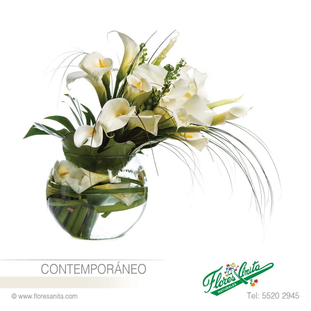 Contemporáneo Arreglo Floral Alcatraces Florería Flores
