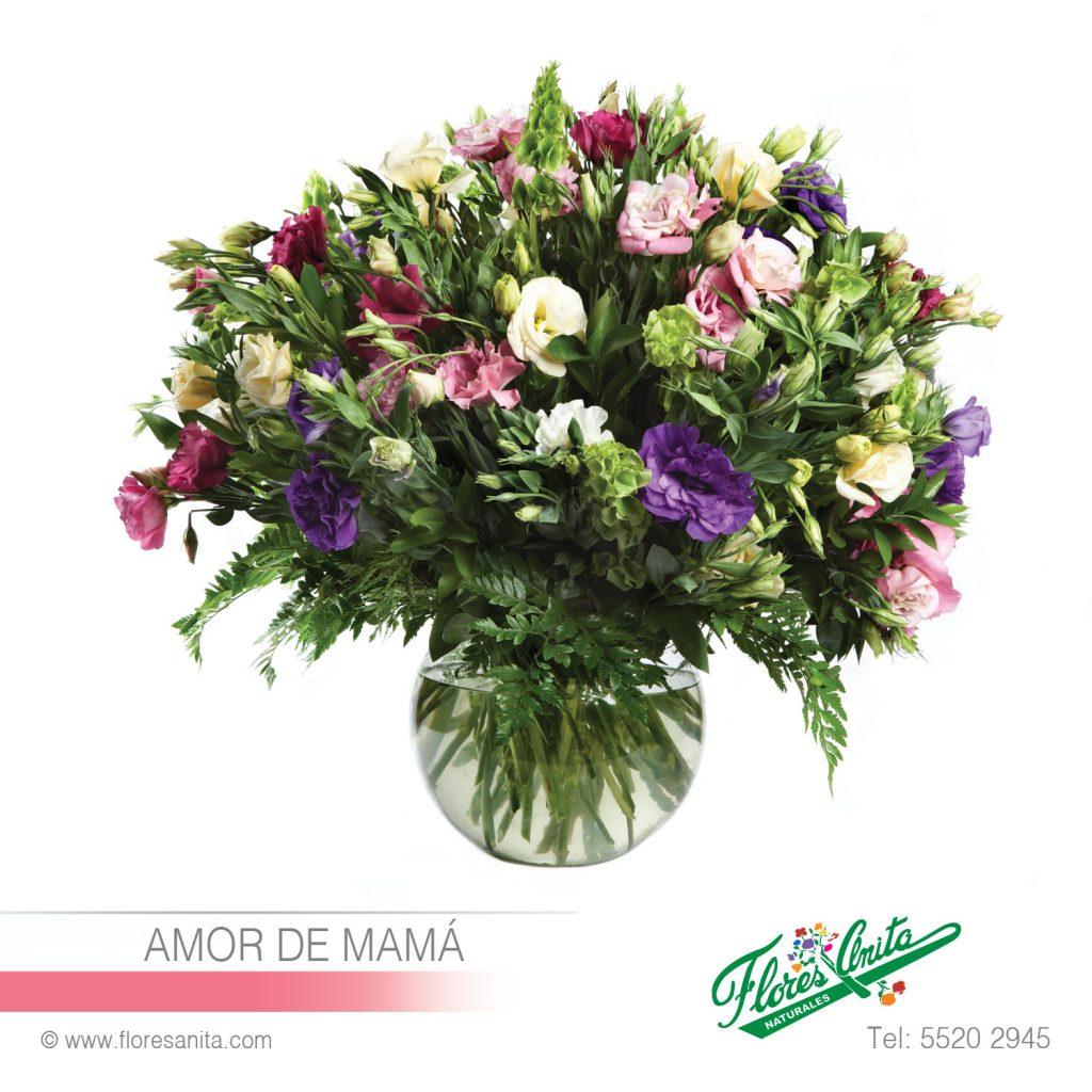 Amor De Mamá Arreglo Floral Lisianthus Florería Flores