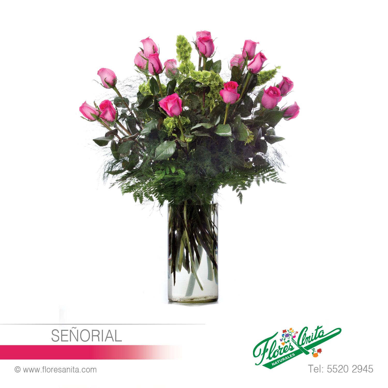 Señorial Arreglo Floral Rosas Florería Flores Anita Cdmx